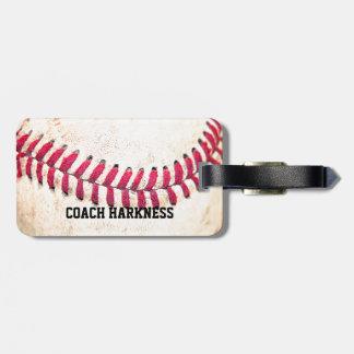 Étiquette À Bagage Nom vintage de coutume de base-ball
