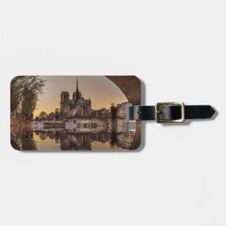 Étiquette À Bagage Notre-Dame, PAris, France
