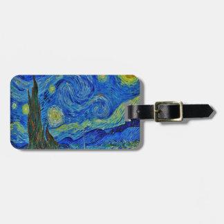 Étiquette À Bagage Nuit étoilée de Van Gogh