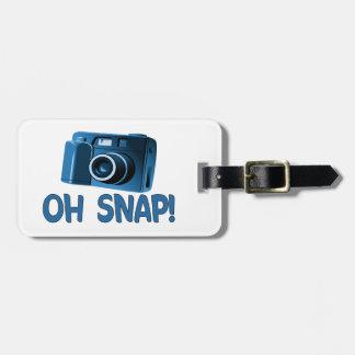 Étiquette À Bagage Oh appareil-photo instantané