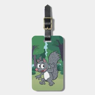 Étiquette À Bagage Ondulation grise d'écureuil de Rick | de garde