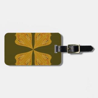 Étiquette À Bagage Or de mandalas sur l'olive