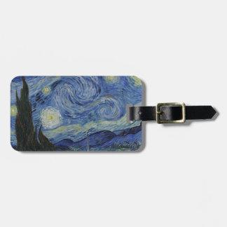 Étiquette À Bagage Original la peinture de nuit étoilée