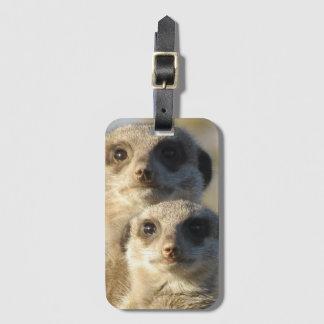 Étiquette À Bagage Paires de Meerkats