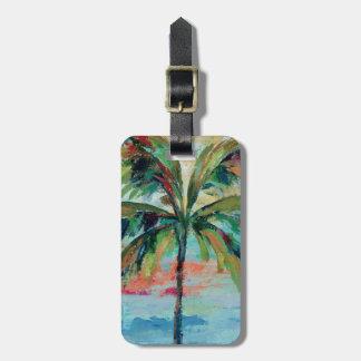 Étiquette À Bagage Palmier tropical de  
