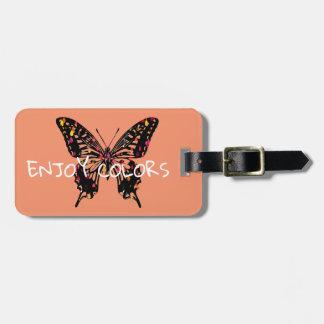 Étiquette À Bagage Papillon coloré