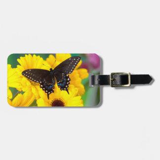 Étiquette À Bagage Papillon noir de machaon
