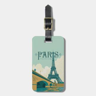 Étiquette À Bagage Paris France - Tour Eiffel