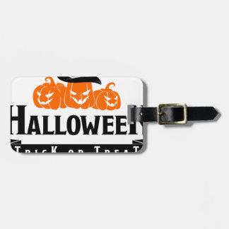 Étiquette À Bagage Partie de des bonbons ou un sort de Halloween