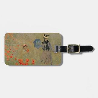 Étiquette À Bagage Pavots sauvages de Claude Monet |, près