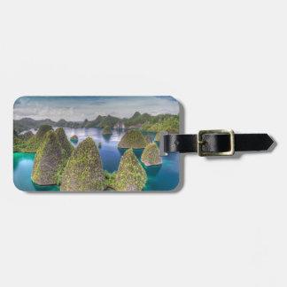 Étiquette À Bagage Paysage d'île de Wayag, Indonésie