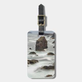 Étiquette À Bagage Paysage marin et piles de mer, Shetland