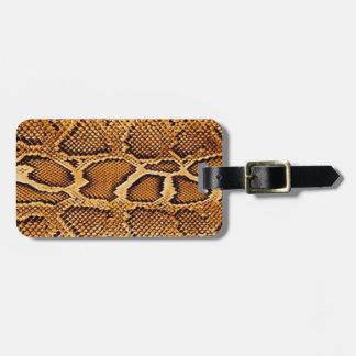 Étiquette À Bagage Peau de serpent à la mode