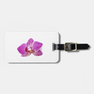 Étiquette À Bagage Peinture florale d'aquarel de phalaenopsis lilas