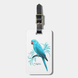 Étiquette À Bagage Perroquet bleu de Ringneck d'Indien