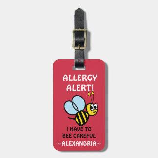 Étiquette À Bagage Personnalisable gaffez l'alerte médicale