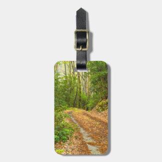 Étiquette À Bagage Personnalisez : Image fumeuse de chemin de terre