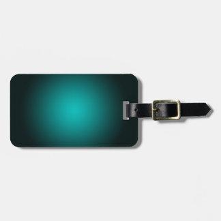 Étiquette À Bagage Personnalisez - l'arrière - plan turquoise de