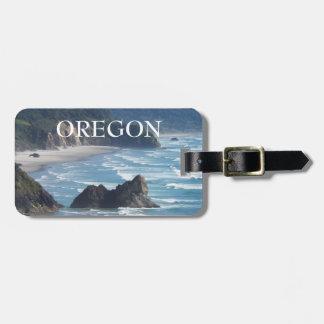 Étiquette À Bagage Photo de littoral de l'Orégon