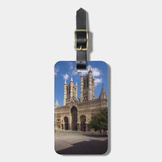 Étiquette À Bagage Photo de souvenir de cathédrale de Lincoln