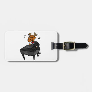 Étiquette À Bagage Pianiste d'orignaux