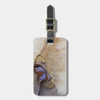 Étiquette À Bagage plume égyptienne d'oie de papillon de Verre-aile