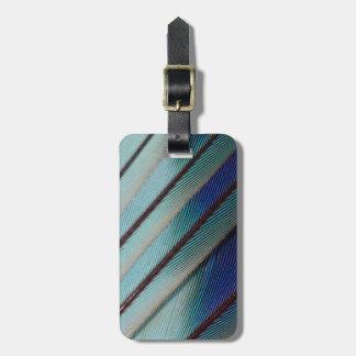 Étiquette À Bagage Plume lilas bleue de rouleau de Breasted