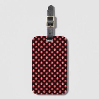 Étiquette À Bagage Point de polka rouge et noir sexy
