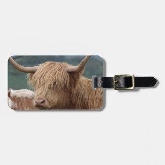 Étiquette À Bagage portrait des bétail des montagnes