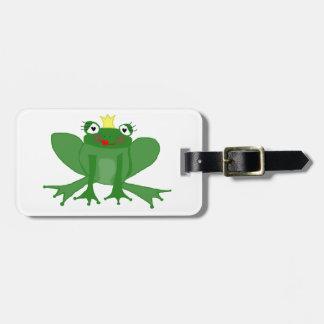 Étiquette À Bagage Princesse mignonne Frog