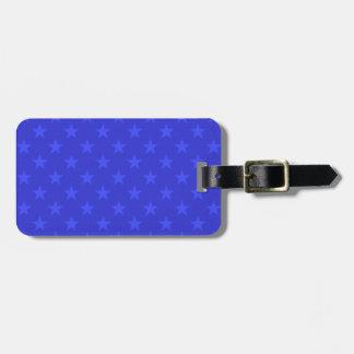 Étiquette À Bagage Profil sous convention astérisque bleu