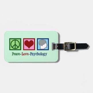 Étiquette À Bagage Psychologue mignon de psychologie d'amour de paix