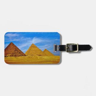 Étiquette À Bagage Pyramides de Gizeh