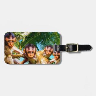 Étiquette À Bagage Quatre petits singes
