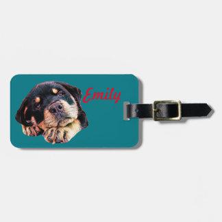 Étiquette À Bagage Race allemande canine de chien de Rott d'amour de