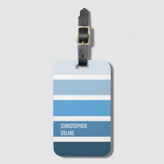 Étiquette À Bagage Rayures bleues fraîches