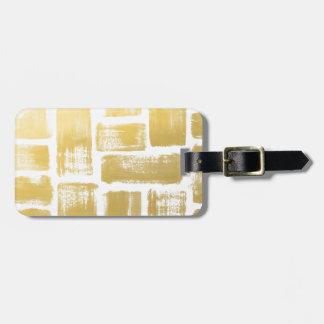 Étiquette À Bagage Rayures d'aquarelle de traçage d'or