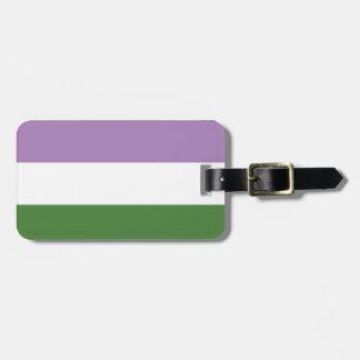 Étiquette À Bagage Rayures de la conception   de drapeau de fierté du