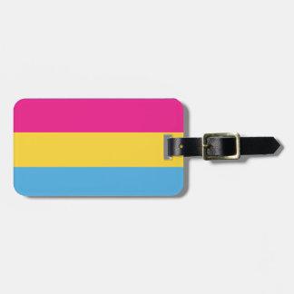 Étiquette À Bagage Rayures Pansexual de la conception   de drapeau de