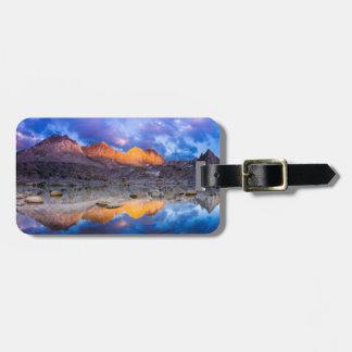 Étiquette À Bagage Réflexion de montagne, la Californie