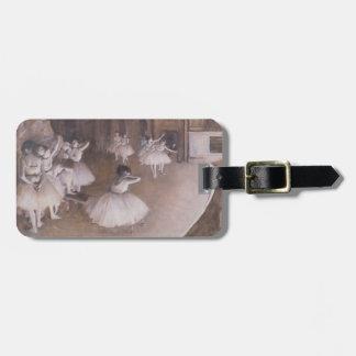 Étiquette À Bagage Répétition de ballet d'Edgar Degas | sur l'étape,