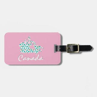 Étiquette À Bagage Rose canadien unique d'étiquette de bagage du