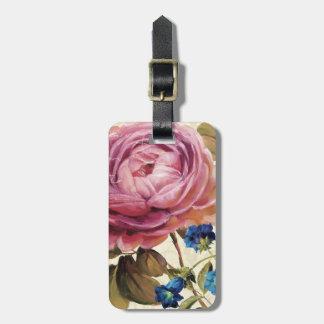 Étiquette À Bagage Rose de rose en pleine floraison