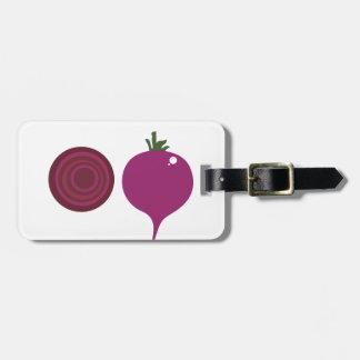 Étiquette À Bagage Rose de vegies de conception sur le blanc