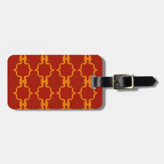 Étiquette À Bagage Rouge d'or d'éléments de conception