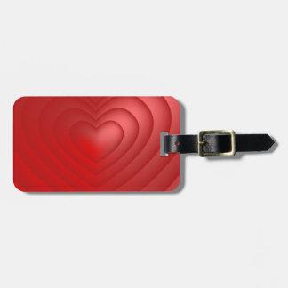 Étiquette À Bagage Rouge mignon de rose de rose de coeur d'amour de