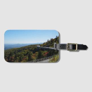 Étiquette À Bagage Route express bleue de Ridge en automne