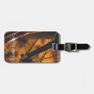 Étiquette À Bagage Sac de voyage de fan de bicyclette d'étiquette de