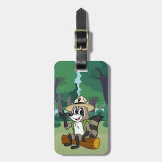 Étiquette À Bagage Séance de Rick de garde forestière de Rick   de