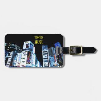 Étiquette À Bagage Secteur de Ginza à Tokyo, Japon la nuit